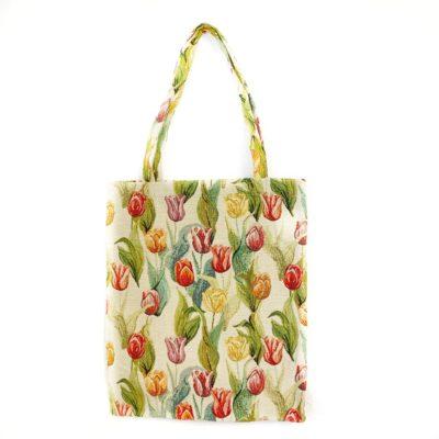 Boodschappentas Tulp - Tulpen - Bloemen - Gobelinstof