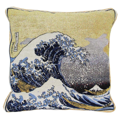 Kunst kussenhoes Great Wave off Kanagawa