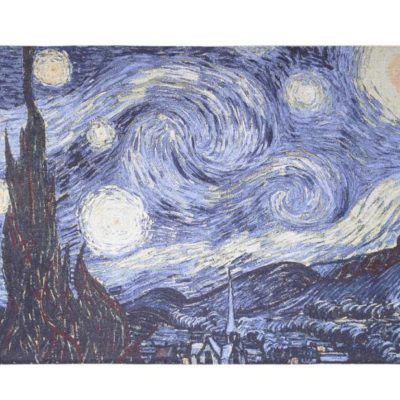 Wandkleed - Vincent van Gogh - Starry Night - Sterrennacht - 82cm x 120cm