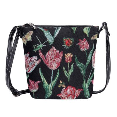 Elegant smal tasje Tulip black - Jacob Marrel