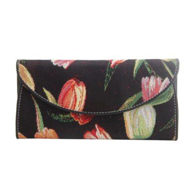 Portemonnee envelop Tulp zwart