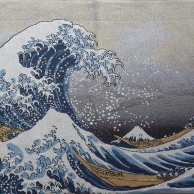 Wandkleed Great Wave of Kanagawa - 69 x 100 cm