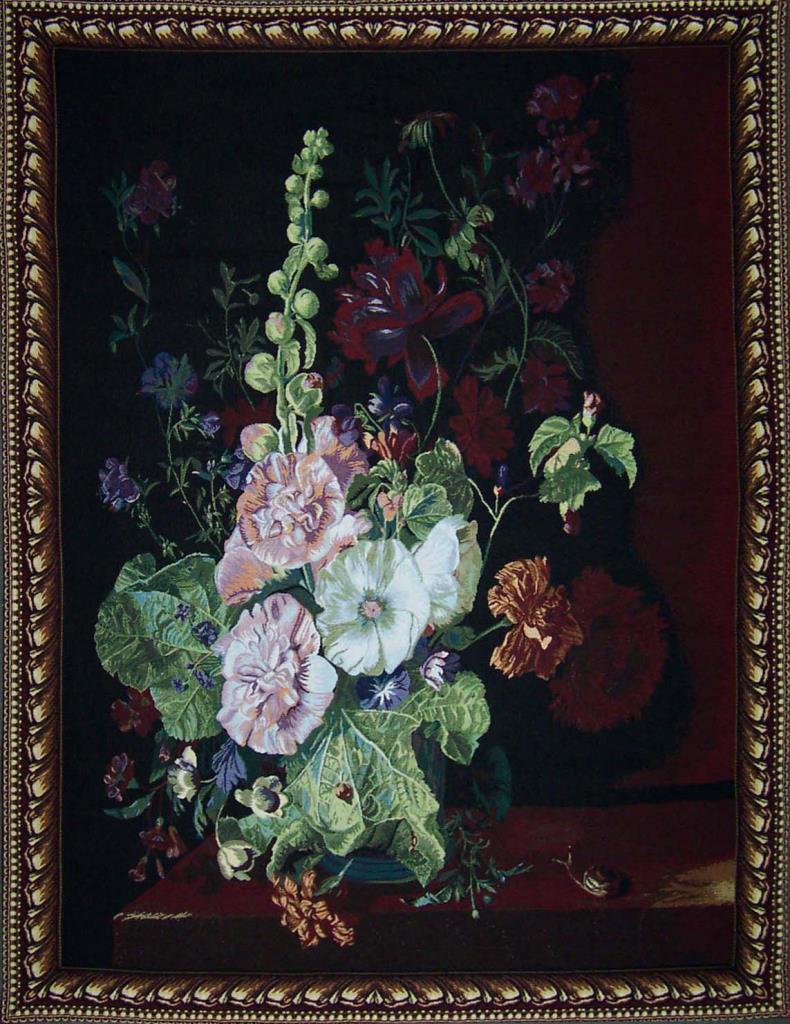 WandkleedFlowers in Vase 139 cm x 101cm – Jan van Huysum