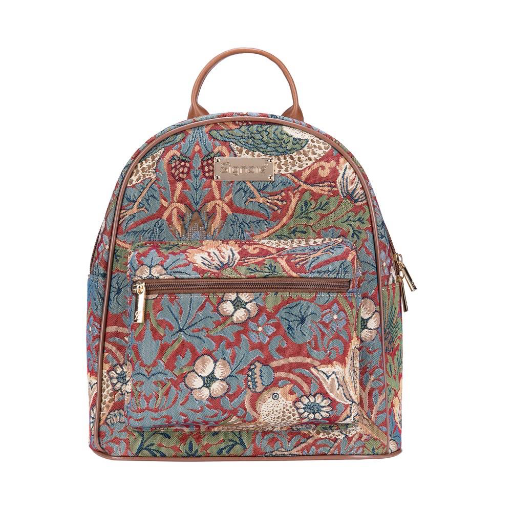 Daypack rugtas – Strawberry Thief Red - William Morris