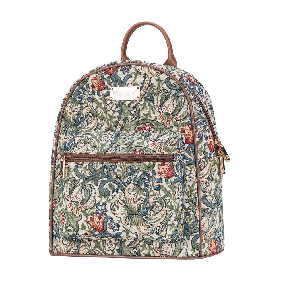 Daypack rugtas – Golden Lily - Gouden Lelie - William Morris