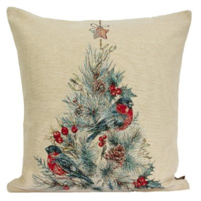 Kussenhoes Christmas Robin (2) - Roodborstje - Vogel