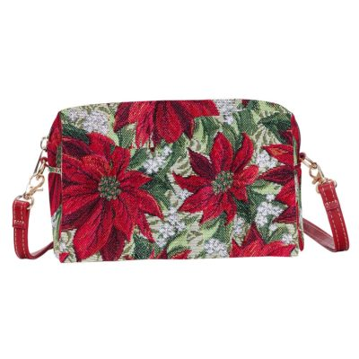 Mini tasje - Xmass- Poinsettias - Kerstster