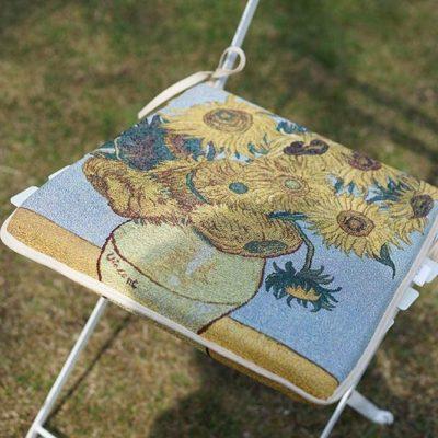 Stoelkussen -Art - Sunflower - Zonnebloemen - Vincent van Gogh - per 2
