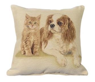 Kussenhoes - Kat en Hond