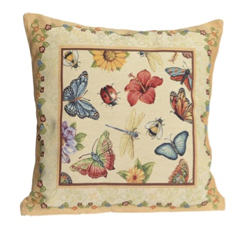 Kussenhoes - Butterfly - Zonnebloem - Vlinder