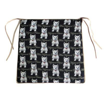 Stoelkussen - Westie - honden