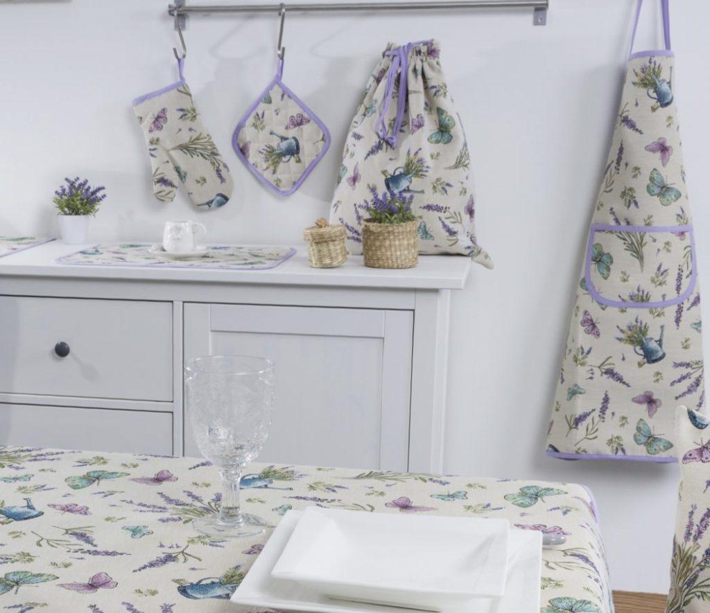 Tafelkleed serie – luxe gobelin – Seeds – Lavendel – Vlinder