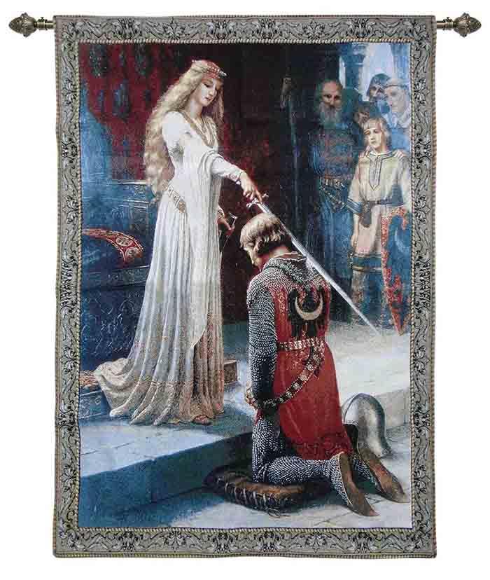 Wandkleed – Wandtapijt – Accolade – Edmund Leighton – 100 x 139 cm