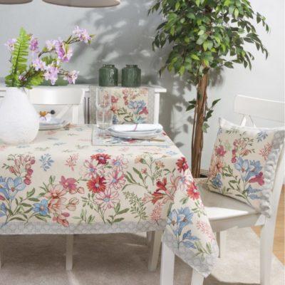 Tafelkleed serie - luxe gobelinstof - Daisy flower - Madeliefje