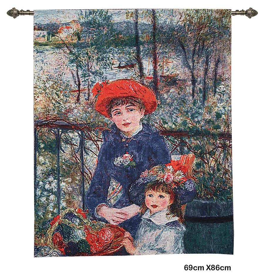 Wandkleed – Two sisters – Twee zusjes – Pierre-Auguste Renoir - 69 x 86 cm